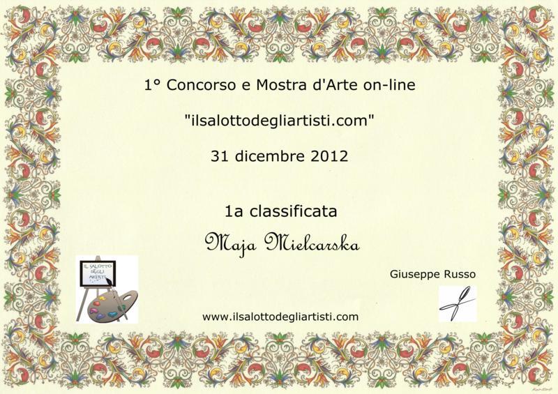 Attestati 1 Concorso La Tua Arte In Internet By Giuseppe Russo