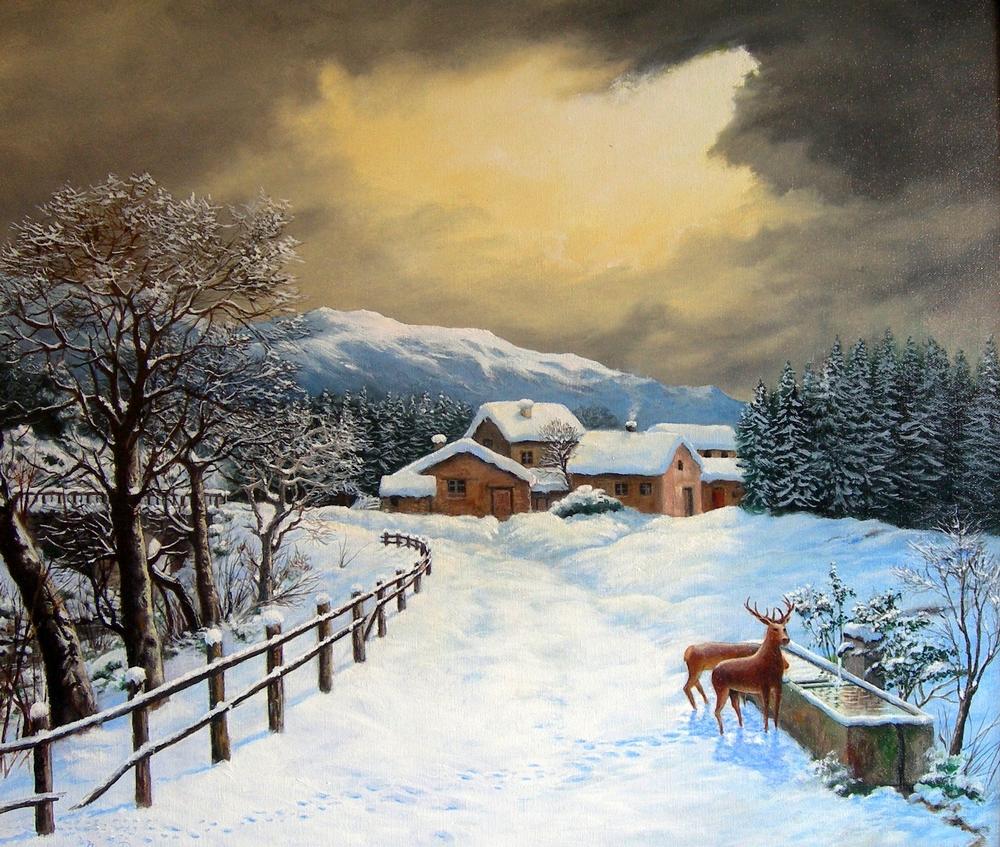 Ferdinando ragni la tua arte in internet by for Paesaggio invernale disegno
